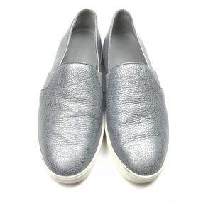 Vince Blair Gunmetal Leather Slip On Sneakers 8